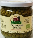 Petits pois extra fins bio Champlat