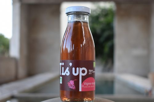 Tis'up vigne rouge, tisane bio circul 25 cl